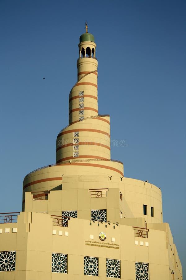 Grote Moskee en cultureel centrum in Doha (Qatar) stock afbeeldingen
