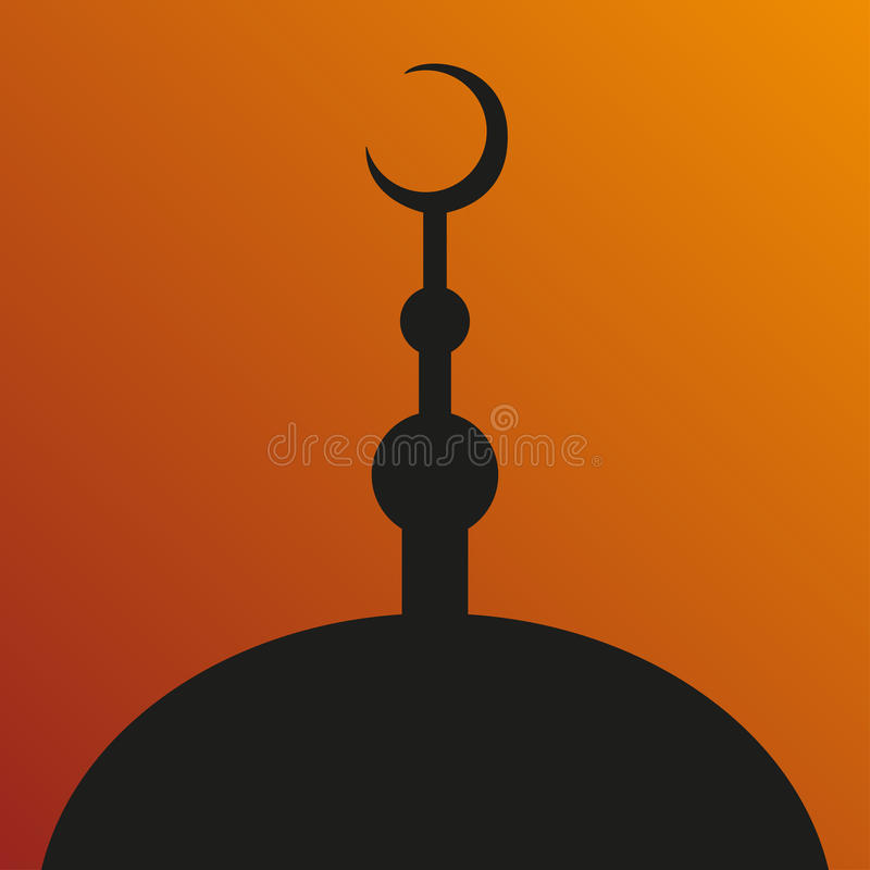 Grote Moskee. Symbool van Islam. Ramadan. Vectoreps vector illustratie