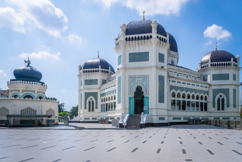 Grote Moskee van Medan, het Noorden Sumatra, Indonesië royalty-vrije stock afbeeldingen