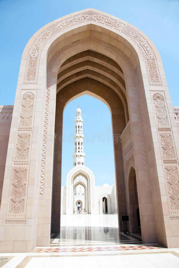 Grote Mosque.Muscat, Oman. stock foto
