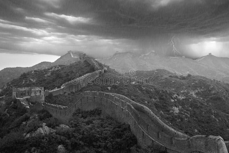Grote Muur apocalyptische tyfoon, China royalty-vrije stock afbeelding