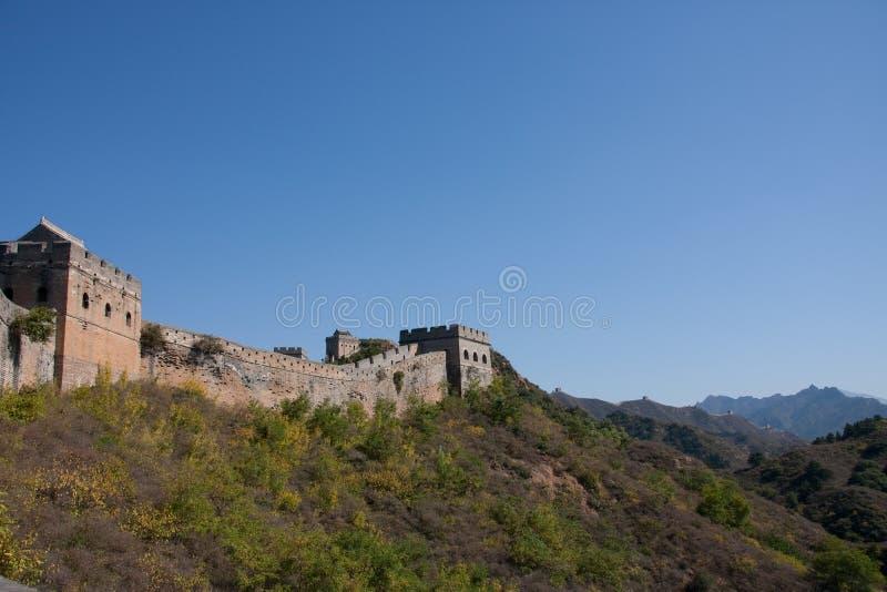 Grote muur in China stock afbeeldingen