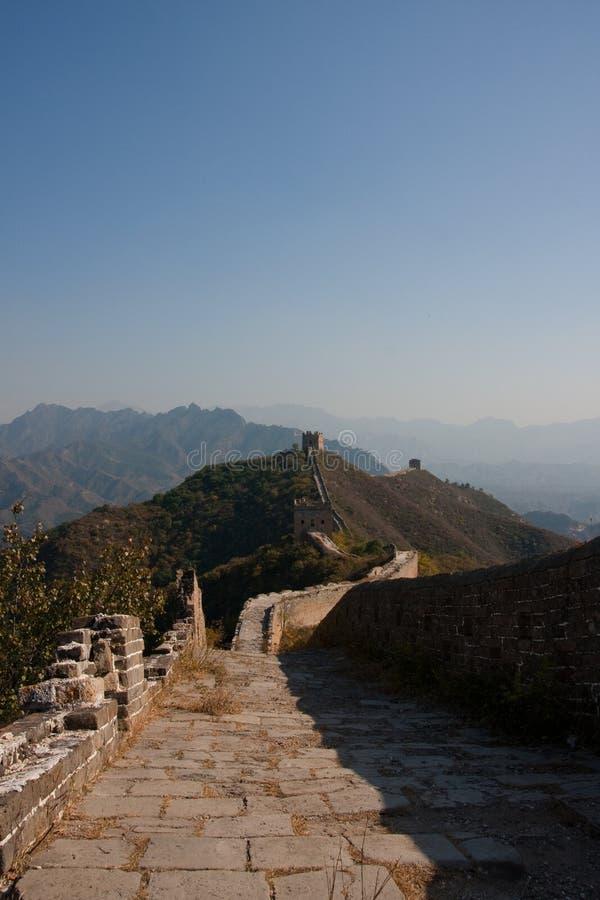 Grote muur in China royalty-vrije stock foto