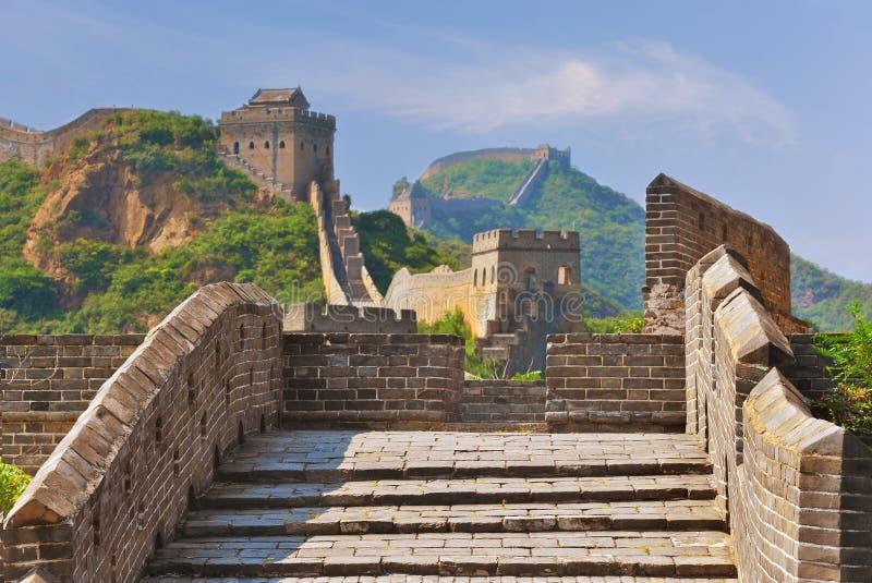 Grote Muur in de Zomer royalty-vrije stock afbeelding