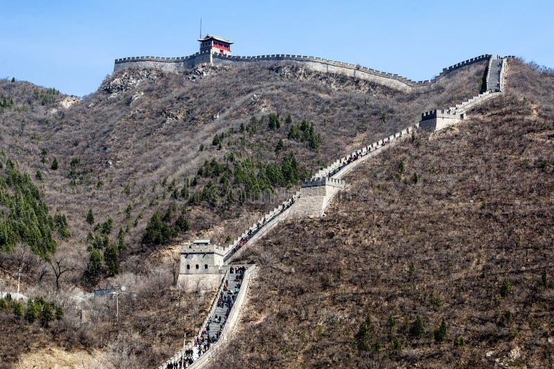Grote Muur dichtbij Peking royalty-vrije stock foto's