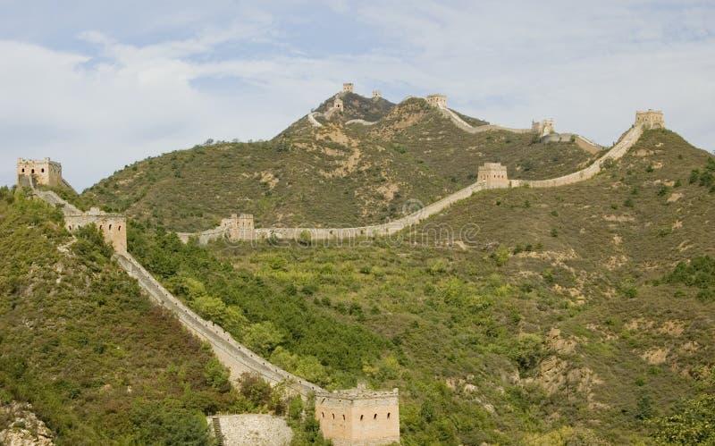 Grote Muur in Jinshanling royalty-vrije stock afbeelding