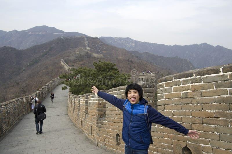 Grote Muur in Mutianyu, Ming Wall royalty-vrije stock afbeeldingen