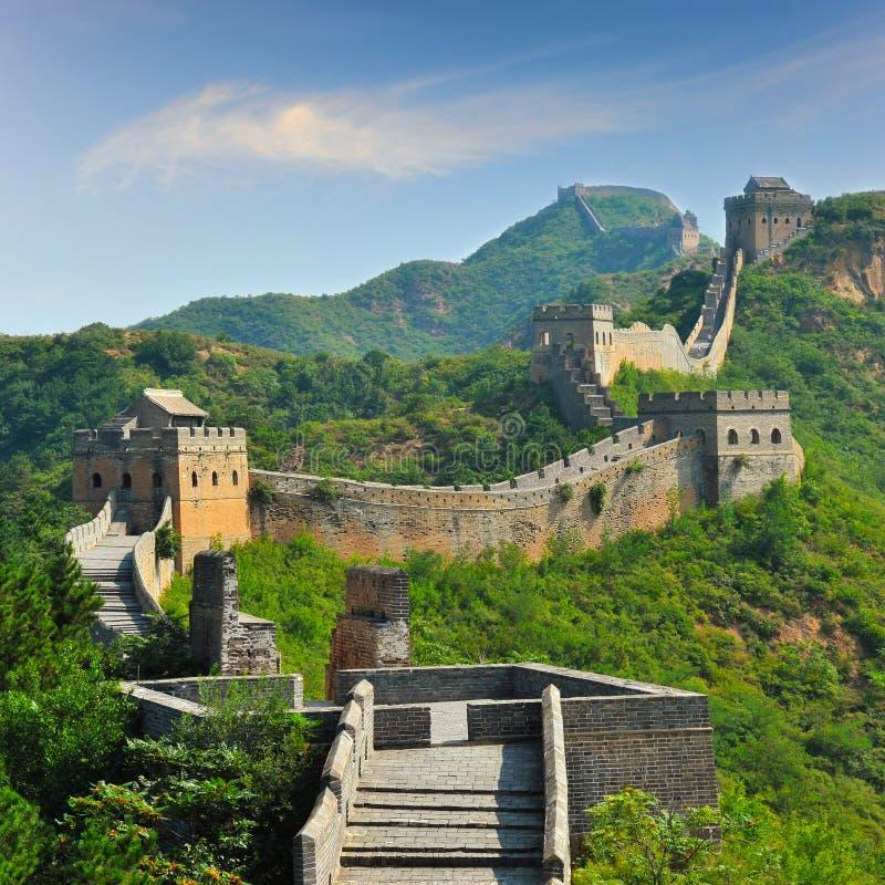 Grote Muur van China in de Zomer stock foto