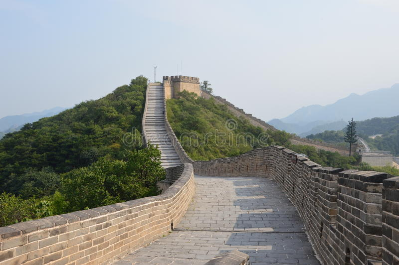 Grote Muur van de Wacht Towers van China stock afbeeldingen