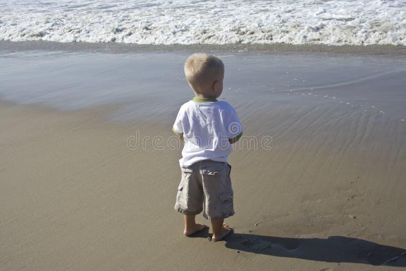 Grote oceaan, Little Boy royalty-vrije stock foto