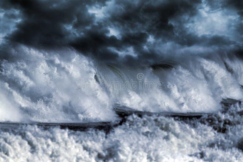 Stormachtige golf stock foto's