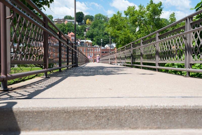 Grote oude brug in de stad van Chicago royalty-vrije stock foto's