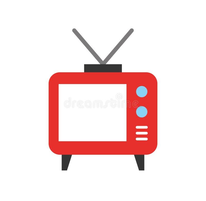 Grote oude televisie stock illustratie