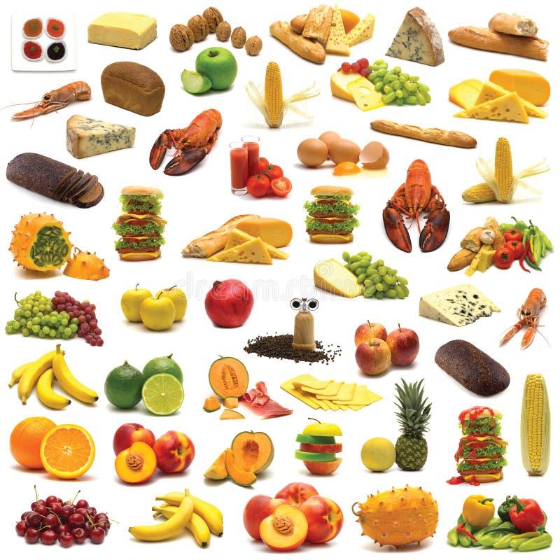 Grote pagina van voedselassortiment stock illustratie