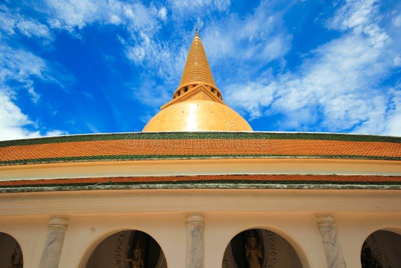 Grote pagode, Nakhon Pathom, Thailand stock foto's