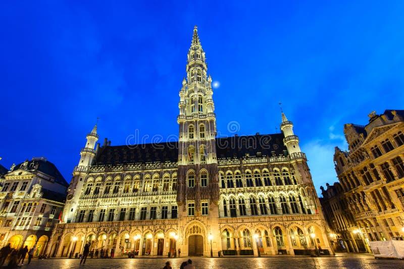 Grote Paleis of Grote Markt in Brussel, België stock afbeeldingen