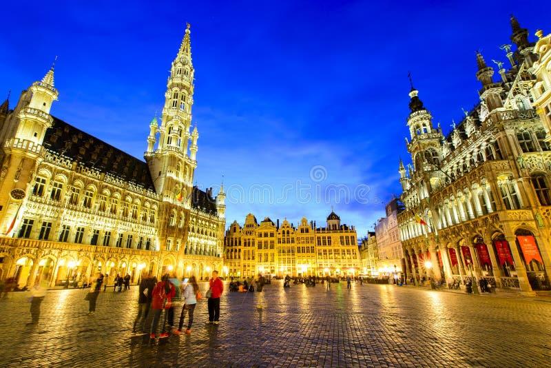 Grote Paleis of Grote Markt in Brussel, België royalty-vrije stock foto's