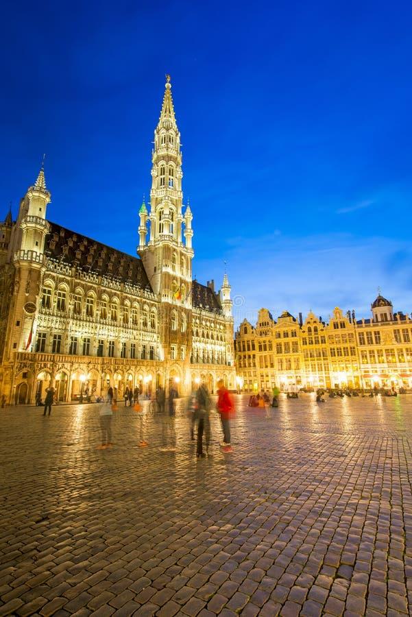 Grote Paleis of Grote Markt in Brussel, België royalty-vrije stock afbeelding