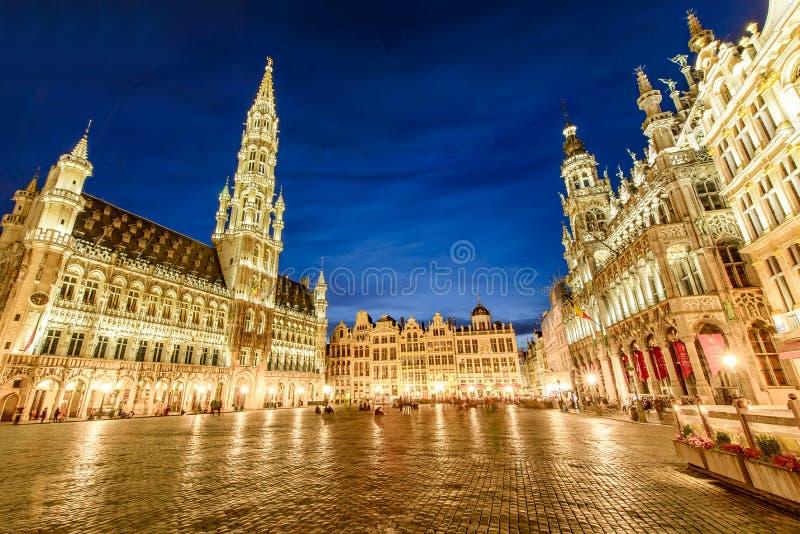 Grote Paleis of Grote Markt in Brussel, België stock foto's