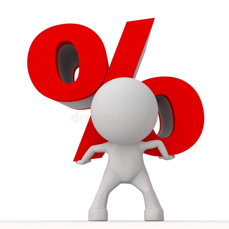 Grote percenten vector illustratie