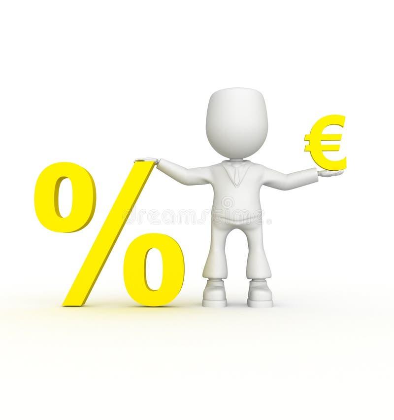 Grote percenten van uw euro! vector illustratie