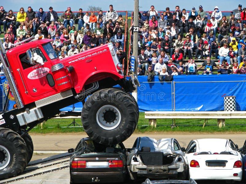 Grote Pete Monster Truck royalty-vrije stock fotografie