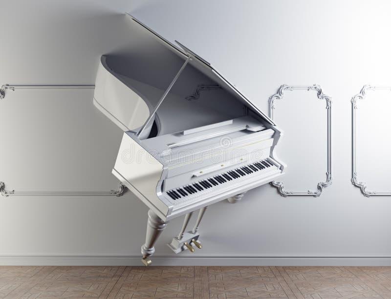 Grote piano in de muur vector illustratie