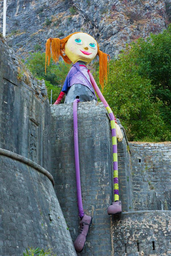 Grote Pippi Longstocking-pop, Montenegro royalty-vrije stock foto