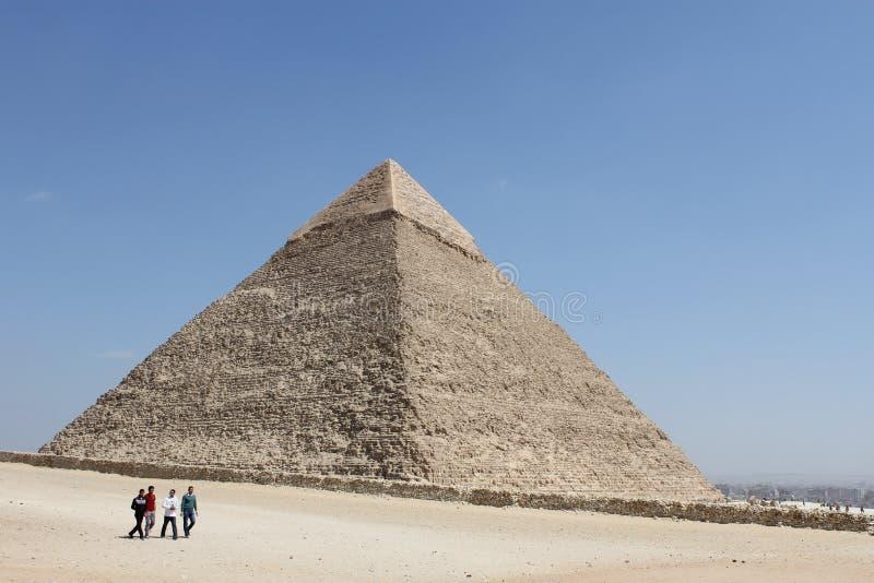 Grote piramide van Giza, Kaïro, Egypte royalty-vrije stock foto's