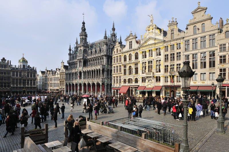 Grote Plaats in Brussel stock afbeeldingen