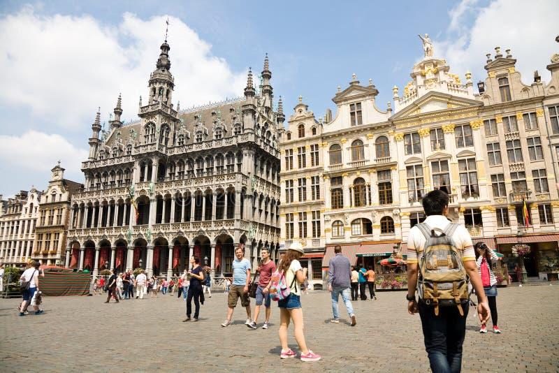 Grote Plaats, Brussel, België royalty-vrije stock afbeelding