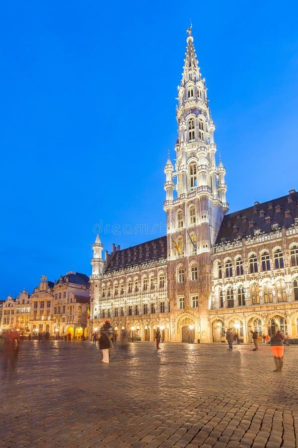 Grote Plaats in Brussel België stock afbeeldingen