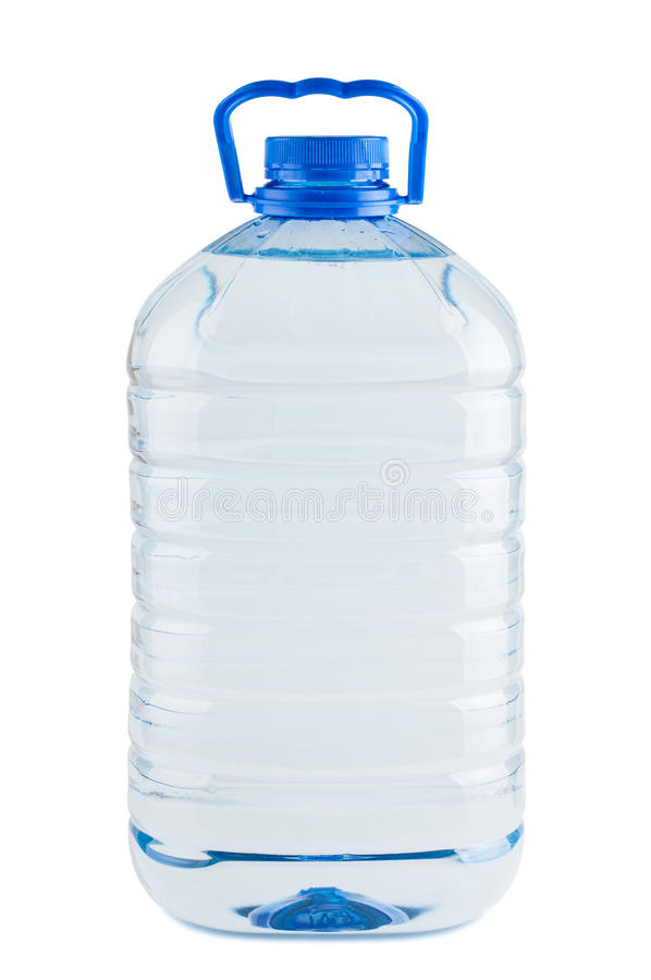 Grote plastic fles zoet water stock fotografie