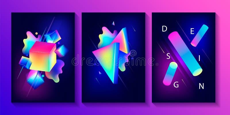 Grote reeks creatieve ontwerpaffiches stock illustratie