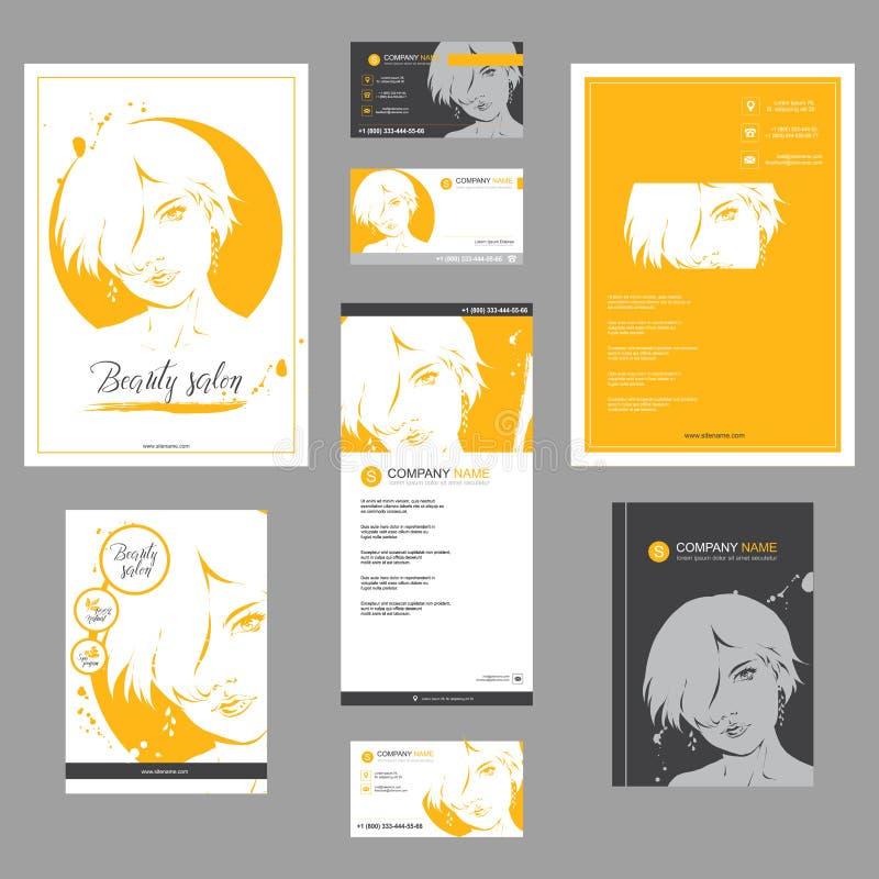 Grote reeks maniermalplaatjes voor kaart, vlieger, affiche, brochure en pamfletontwerp stock illustratie
