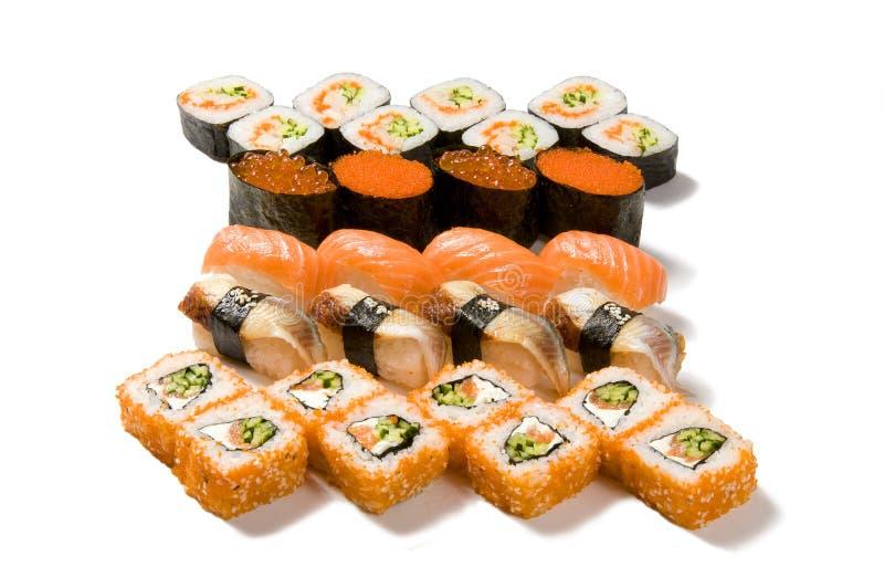 Grote reeks sushi stock afbeeldingen
