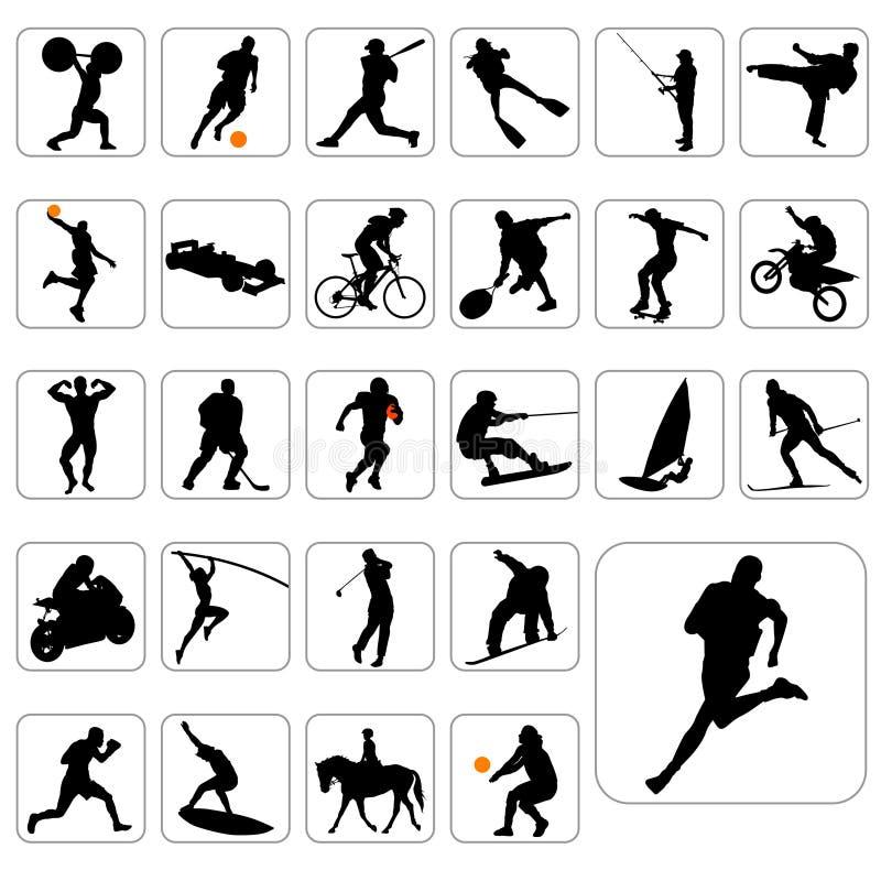 Grote reeks van sportvector royalty-vrije illustratie