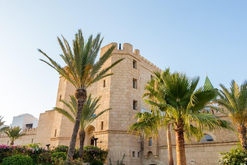 Grote replica van oude Medina in toeristenstad van Yasmine Hammamet, Tunesië royalty-vrije stock foto