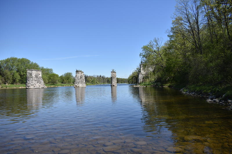 Grote Rivier Parijs Ontario stock foto