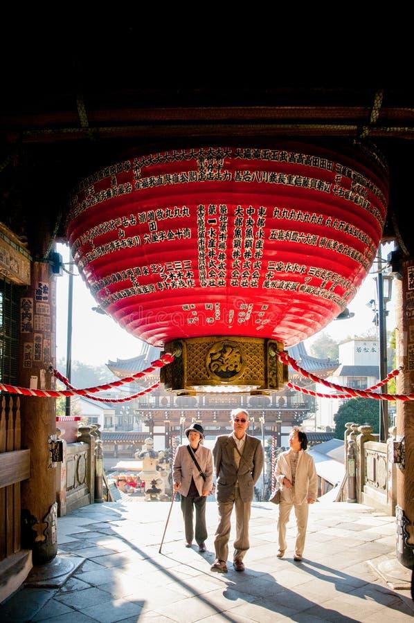 Grote rode lantaarn bij Narita San Shinsho ji tempel, Narita, Chiba stock afbeeldingen