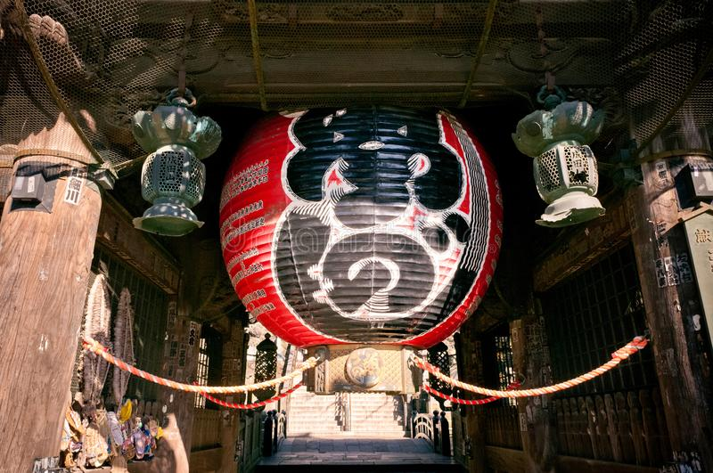 Grote rode lantaarn bij Narita San Shinsho ji tempel, Narita, Chiba royalty-vrije stock foto