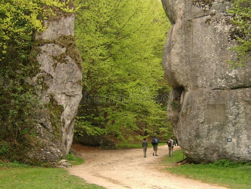 Grote rotsen in Polen royalty-vrije stock foto's