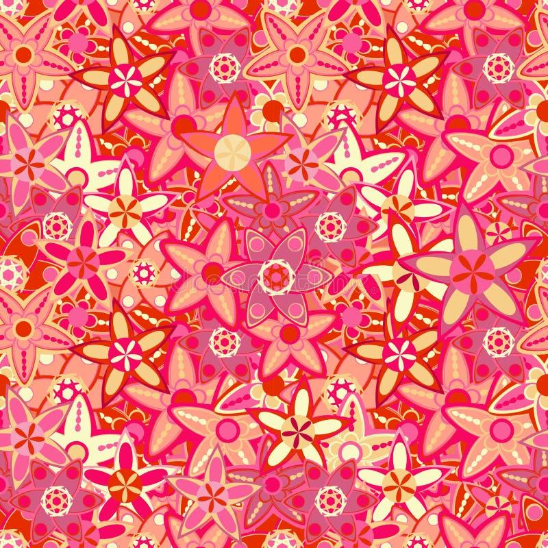 Grote Roze Bloem Naadloze Textuur vector illustratie