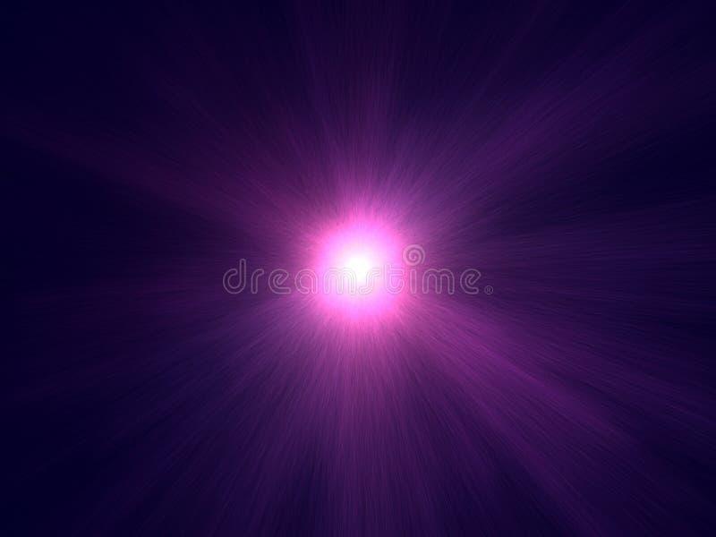 Grote roze en violette ruimtesterexplosie stock illustratie