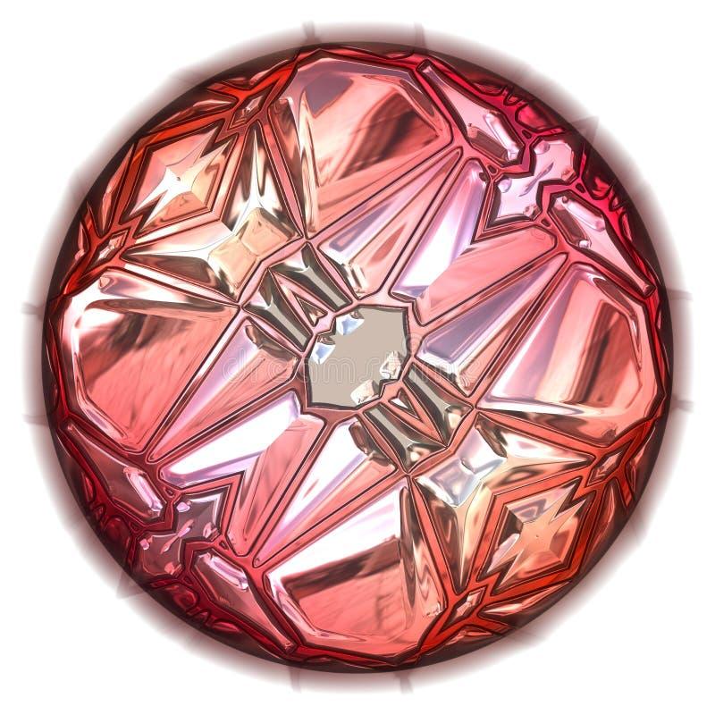 Grote roze gem vector illustratie