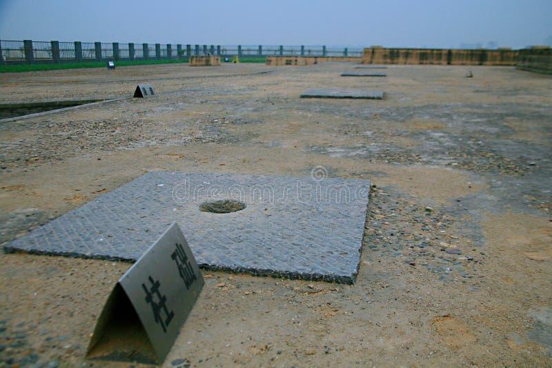 Grote ruïnes van Luoyang stock afbeelding