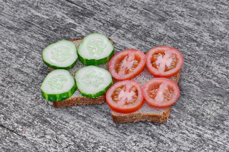 Grote sandwiches royalty-vrije stock afbeelding
