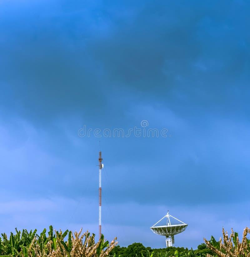 Grote SatellietSchotel royalty-vrije stock foto's