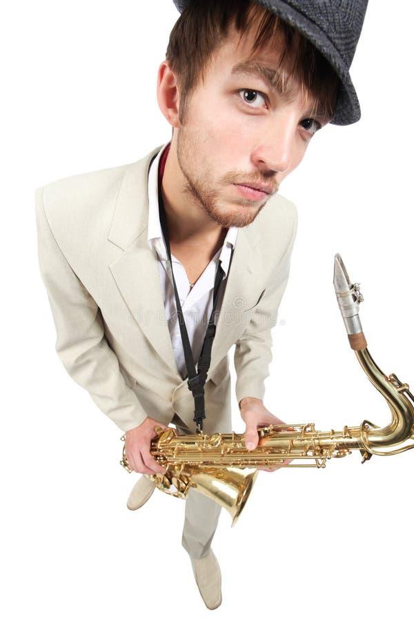 Grote saxofoon royalty-vrije stock afbeeldingen
