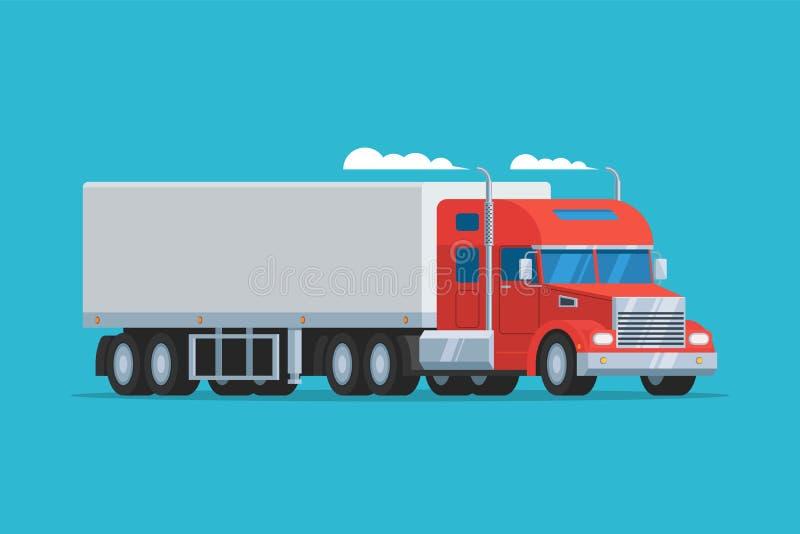 Grote semi vrachtwagen vector illustratie